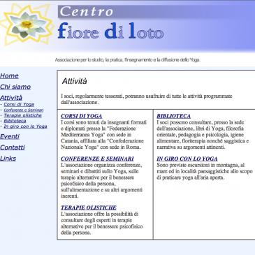 8 Settembre 2004 – inaugurazione del Sito Internet: www.centrofiorediloto.it