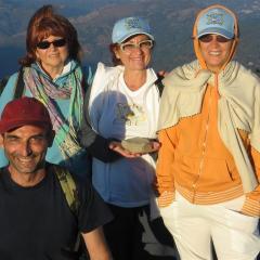con Linda, Barbara e Filippo