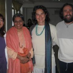 con Barbara Woelher e Swami Yogamudrananda Saraswati