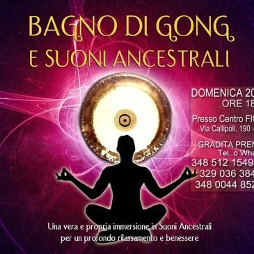 20 ottobre 2019 ore 18 – Bagno di Gong e suoni ancestrali