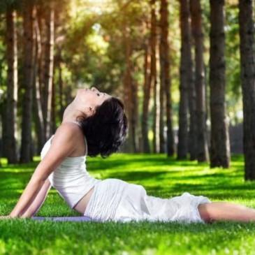 Yoga sul prato